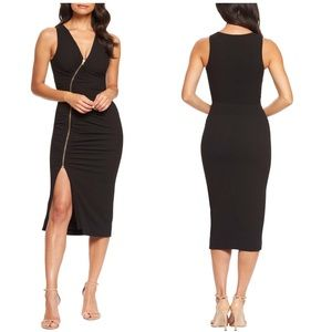 Dress the Population Ivy Ruched Zip BodyCon Dress